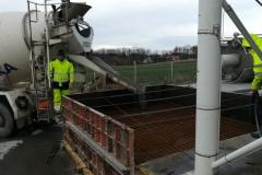 Příprava před betonáží základu pro silo